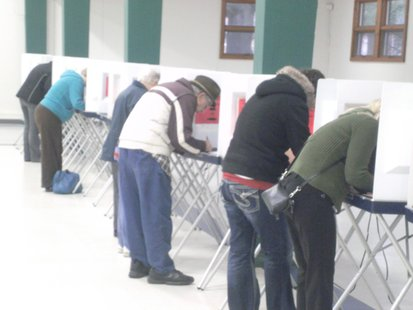 Voting in Wausau 11/6/12