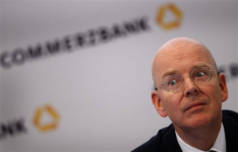 File photo of Germany's Commerzbank CEO Martin Blessing attending the annual news conference in Frankfurt, February 23, 2012. Commerzbank Ge