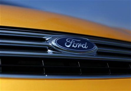 A Ford Fiesta vehicle sits for sale on a dealership lot in Encinitas, California July 25, 2011. REUTERS/Mike Blake
