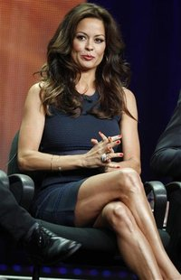 "Brooke Burke-Charvet, host of the upcoming reality series ""Dancing with the Stars: All Stars"" speaks during a panel discussion at the Disney"
