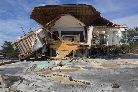 Destruction from Hurricane Sandy in Point Pleasant Beach, New Jersey, is pictured in this Red Cross handout photo taken November 4, 2012. RE