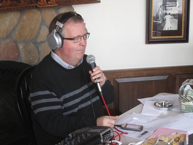 Jerry Bader broadcasting live.