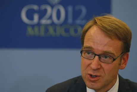 Jens Weidmann, president of German Bundesbank, addresses the media in a news conference at the G20 Summit in Mexico City November 5, 2012. R