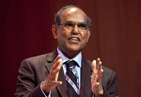 "Duvvuri Subbarao, governor of the Reserve Bank of India, speaks during ""The Citi Series on Asian Business Leaders"" at the Asia Society in Ne"