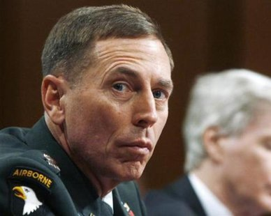 U.S. Army General David Petraeus appears before the U.S. Senate Foreign Relations Committee to deliver testimony on the state of the war in Iraq on Capitol Hill, September 11, 2007. REUTERS/Jim Bourg