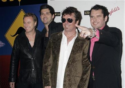 Australian band INXS poses at the Penfolds Icon Gala Dinner during G' Day LA Australia Week 2006 in Hollywood January 14, 2006. REUTERS/Fred
