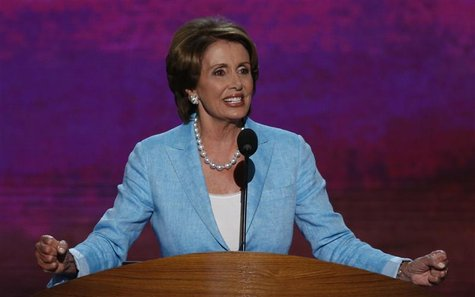 U.S. House Minority Leader Nancy Pelosi (D-CA) addresses the second session of the Democratic National Convention in Charlotte, North Caroli