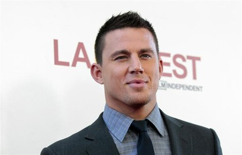 "Cast member Channing Tatum poses at the premiere of ""Magic Mike"" during the closing night of the Los Angeles Film Festival at the Regal Cine"
