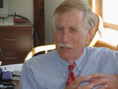Former Maine Governor Angus King is pictured in this undated photograph released on June 22, 2012. REUTERS/Courtesy of the Office of Angus K