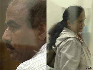 Beach Road Liquor owners Gurnek and Gurdeep Basanti appear in Brown County court, Sept. 11, 2012. (courtesy of FOX 11).