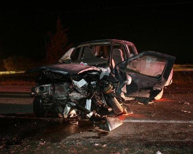 One of the vehicles involved in the Nov. 13, 2012 crash in Geneva Twp., MI. (photo courtesy Van Buren Co. Sheriff's Dept.)