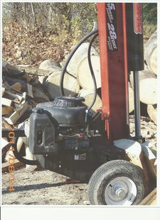 The logsplitter stolen from the Bill Ross & Sons Trucking Company.