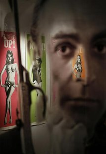 "A complete set of original cinema door panel posters from the film ""Thunderball"" are seen during a media preview of ""50 Years of James Bond"