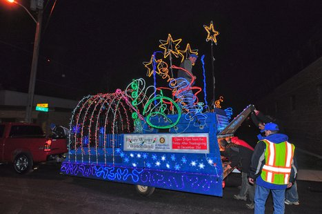 A float from the 2012 Marshfield Holiday Parade