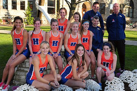 Hope College's 2012 women's cross country team (photo courtesy Hope College)