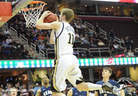 WMU F Nate Hutcheson, who scored a game-high 30 points in an 81-71 win over Loyola-Chicago in game one of the South Florida MTE in Tampa, FL, on Friday, November 16, 2012 (Photo courtesy of www.wmubroncos.com)