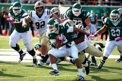 EMU vs WMU in 2011 matchup EMU won 14-10.