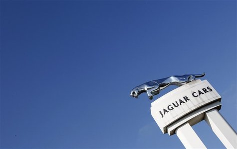 A Jaguar symbol is seen outside the Jaguar Land Rover's Halewood assembly plant in Liverpool, northern England, March 2, 2011. REUTERS/Phil