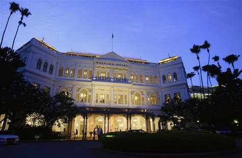 A general view of Raffles Hotel in Singapore is seen in this September 10, 2012 file photo. The best may be over for Singapore's booming hot