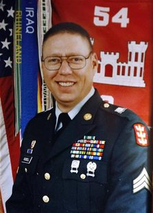 Sgt. John M. Russell, the Army sergeant accused of killing five fellow soldiers in Iraq, is seen in a military photo provided by his father,