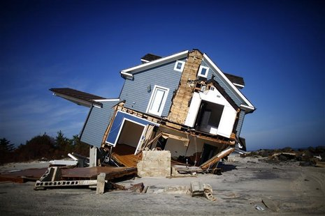 A home that was damaged by Hurricane Sandy is seen in Mantoloking, New Jersey November 12, 2012. REUTERS/Eric Thayer