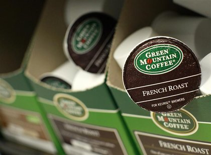 Green Mountain Coffee single-serve K-Cups are pictured in New York, in this May 3, 2012, file photo. REUTERS/Brendan McDermid/Files