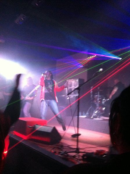 Rachael Brusky got this pic with the lasers and all
