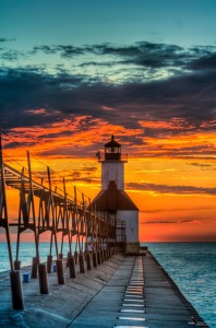 St. Joseph North Pier Lighthouse, taken by Sean Chess of Coldwater, will be featured in the 2013 Pure Michigan Travel Guide.