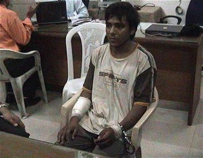 Mohammed Ajmal Kasab, the lone surviving member of the 10-man group which attacked several Mumbai landmarks, is seen at an undisclosed locat