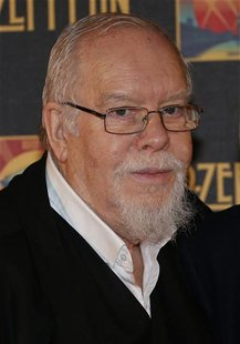 "British artist Peter Blake arrives for the U.K. premiere of ""Celebration Day"" at the Hammersmith Apollo in London October 12, 2012. REUTERS/"