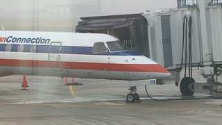 It was a foggy morning at Austin Straubel International Airport, Wednesday, November 21, 2012. (courtesy of FOX 11).