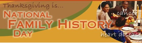 National Family History Day logo