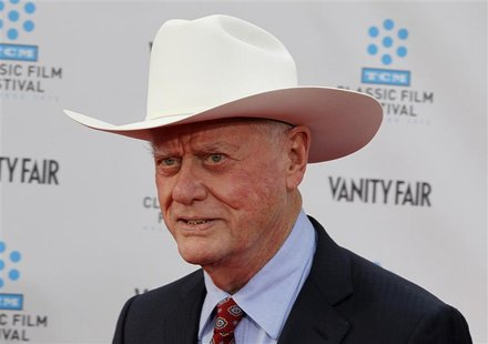 "Cast member of the TV series ""Dallas"" Larry Hagman arrives at the world premiere of the 40th anniversary restoration of the film ""Cabaret"" d"