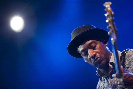 U.S. jazz bassist Marcus Miller performs onstage during the tribute to Miles Davis evening at the 45th Montreux Jazz Festival in Montreux Ju