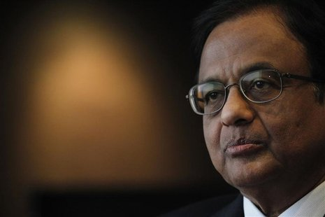 India's Finance Minister P. Chidambaram attends an interview with Reuters at a hotel during his visit for the G20 meeting in Mexico City in
