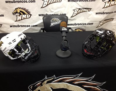 Western Michigan Bronco hockey press conference