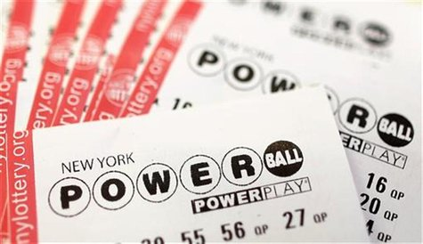 Powerball lottery tickets are seen in New York, November 27, 2012. The top prize in Wednesday's Powerball lottery is currently a record $425