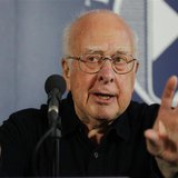 Professor Peter Higgs speaks during a news conference at the launch of The University of Edinburgh's new Higgs Centre for Theoretical Physic