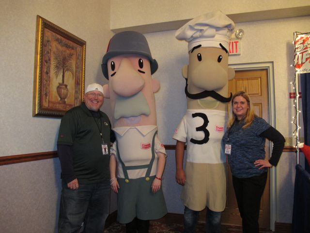 The Racing Sausages were there!!