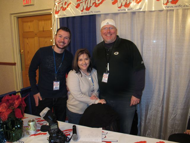 Guardians of the tasty food at Holidays in Harmony were Mike Mathers, Stacy Cole, and Dave Kallaway! Hey!!