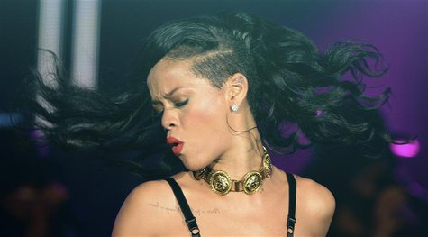 "Singer Rihanna performs at The Forum in Kentish Town in London November 19, 2012. Rihanna is in the UK to promote her latest album ""Unapolog"