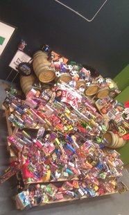 Some of the toys collected in the Toys For Tots campaign.