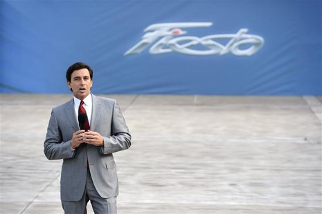 Mark Fields, President of the Americas at Ford Motor Company, speaks during a news conference at the 2012 Los Angeles Auto Show in Los Angel