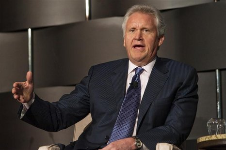 Jeffrey Immelt, Chairman and CEO of General Electric, speaks at the 2012 Simon Graduate School of Business' New York City Conference in New