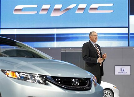 Art St. Cyr, Vice President Product Planning and Logistics American Honda Motor Co., speaks about the 2013 Honda Civic at the 2012 Los Angel