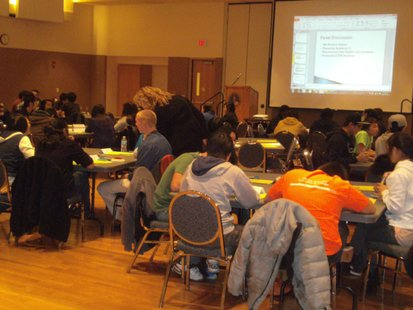 UWSP Laird Room during Superintendent's Youth Summit on Learning and Education 11/28/12