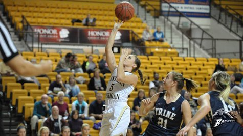 Western Michigan's women's baskeball squad fell to Detroit Mercy, 97-57, at Calihan Hall in Detroit, Michigan, on Wednesday, November 28, 2012 (photo courtesy of Western Michigan University)