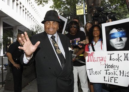 Joe Jackson, father of the late pop star Michael Jackson, leaves the courthouse during Dr. Conrad Murray's trial in the death of his son in