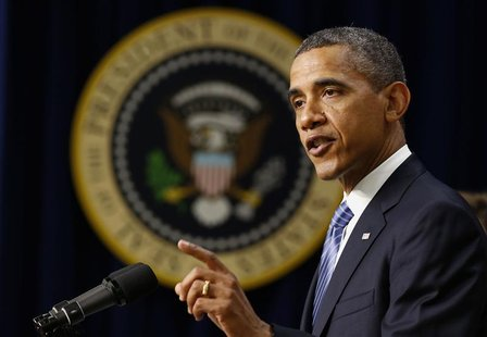 President Barack Obama talks about the need for Congress to ensure taxes don't go up for the majority of Americans next year, while in the E