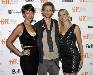 "(L-R) Cast members Gretchen Lodge, Johnny Lewis and Alexandra Holden pose at the screening of the film ""Lovely Molly"" at the 36th Toronto In"